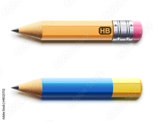 Two sharpened pencils