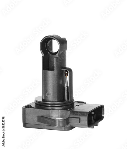 canvas print picture Mass air flow sensor isolated on white background