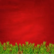 Retro Red Background And Fir Tree