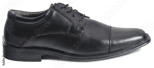 Black Men's Shoe Isolated on White