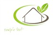Home , leaves, green icon,business logo design