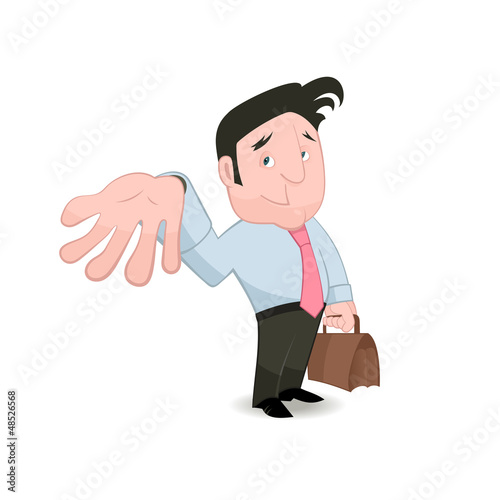 Man gesturing and placing trust