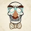 Vector illustration of decorative skull