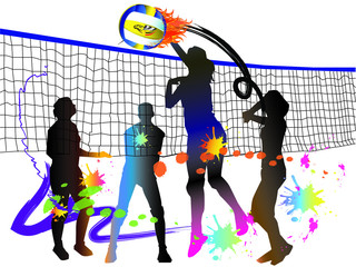 volleyball art