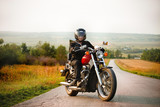 Biker on the country road - Fine Art prints