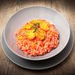 piatto di risotto con fichi d