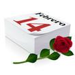 Diario: 14 de febrero, Día de San Valentín y Rosa
