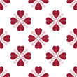 Floral Valentine seamless pattern with hearts