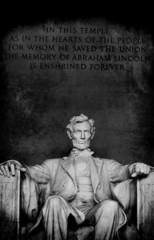Lincoln Memorial Closeup of Lincoln Statue