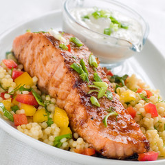 grilled salmon with couscous