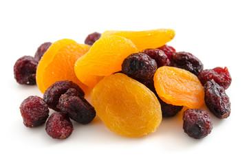 Getrocknete Aprikosen und Cranberries