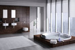 Exclusive Luxury Penthouse Bathroom Interior - 48530581
