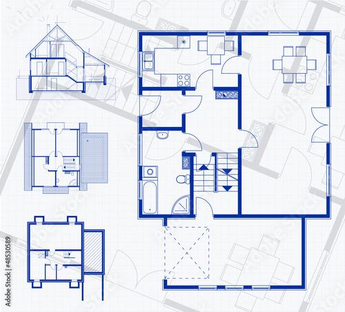 Floor plan blueprint vector illustration buy photos ap images floor plan blueprint vector illustration malvernweather Image collections