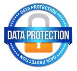 Fototapety Icon Data Protection seal