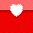 Tarjeta con forma de corazón recortado