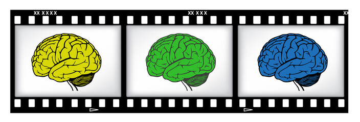 brains on film background