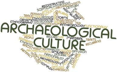 Word cloud for Archaeological culture
