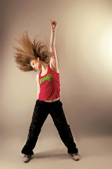 Zumba fitness woman in studio