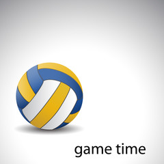 Game time - Volleyball background