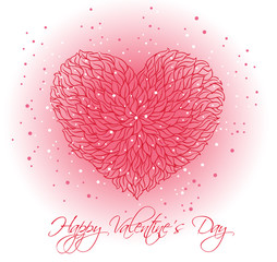 Abstract vector floral heart.