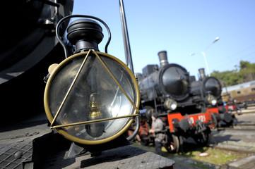 Lamp of a steam train