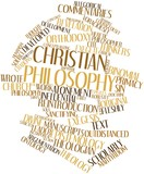 Word cloud for Christian philosophy poster