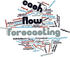 Word cloud for Cash flow forecasting