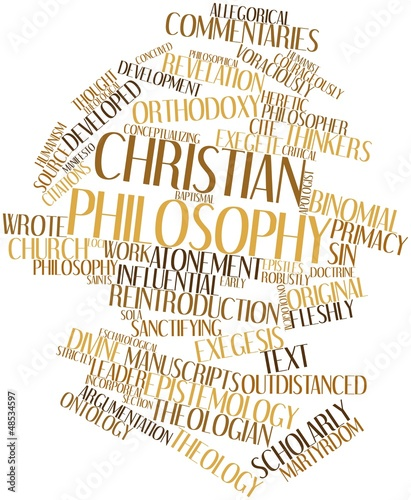 Word cloud for Christian philosophy