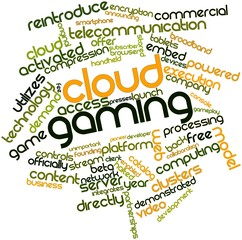 Word cloud for Cloud gaming