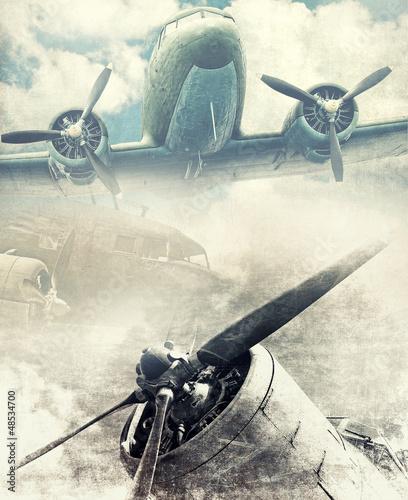 retro-lotnictwa-vinatge-tlo
