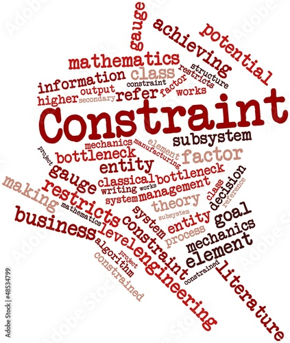 Word cloud for Constraint