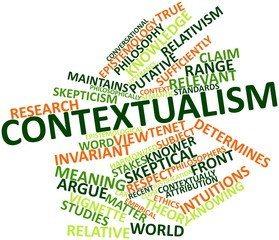 Word cloud for Contextualism