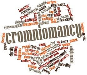 Word cloud for Cromniomancy