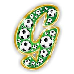G -FOOTBALL  LETTER