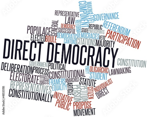"""""""Word cloud for Direct democracy"""" Stock photo and royalty ..."""