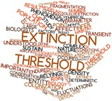 Word cloud for Extinction threshold poster