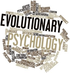 Word cloud for Evolutionary psychology