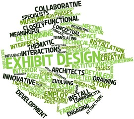 Word cloud for Exhibit design