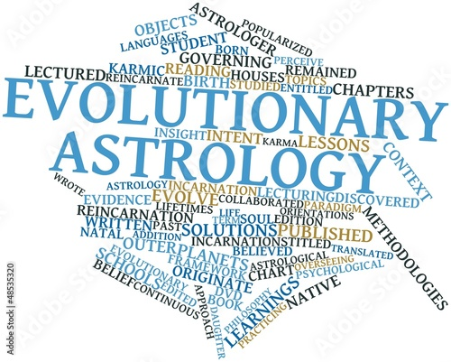 Word cloud for Evolutionary astrology