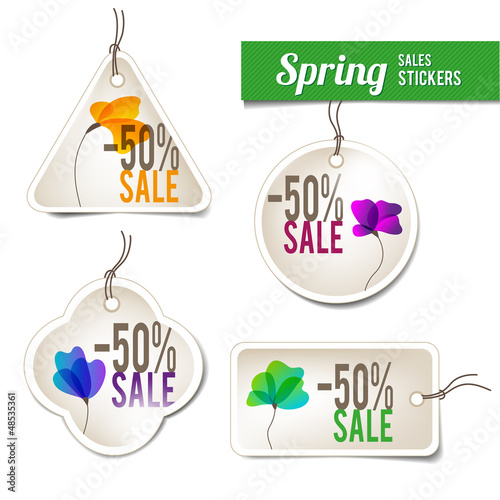 Spring Sales Stickers
