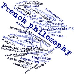 Word cloud for French philosophy