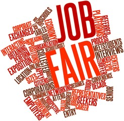 Word cloud for Job fair