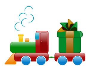 treno con regalo