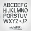 Vector font. Full alphabet