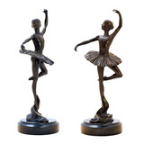 Bronze antique figurine of the dancing ballerina.