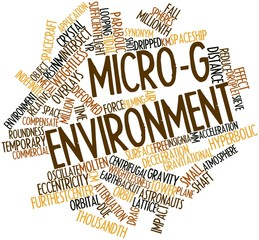 Word cloud for Micro-g environment