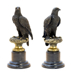 Bronze antique figurine of the eagle.