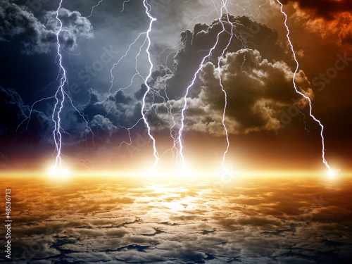 Dramatic apocalyptic background