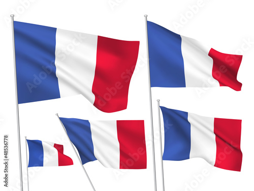 France vector flags