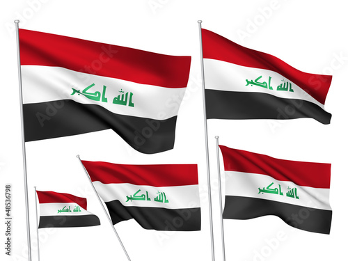Iraq vector flags